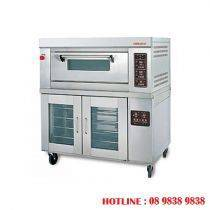 1 decks gas baking oven + 12 pans proofer BJY-1B + 12PF-G