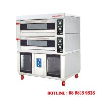 2 decks electrical baking oven + 16 pans proofer BJY-2B + 16PF-E