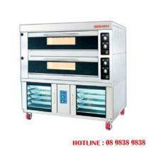 2 decks electrical baking oven + 8 pans proofer BJY-2B+8PF-E