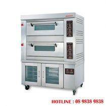 2 decks gas baking oven + 8 pans proofer BJY-2B + 8PF-G
