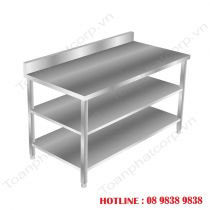 3-Storey Flat Stainless Steel Shelf