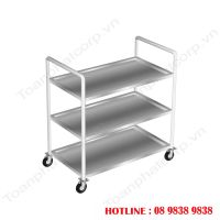 3-storey stainless steel trolley