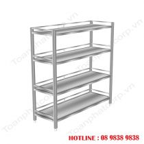 4-storey Stainless Steel Shelf