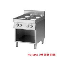 Electric range on open cabinet. 4 round hot plates FU 70/70 PCE