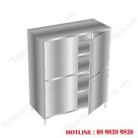 Open Door Stainless Steel Kitchen Cabinet TOAN PHAT
