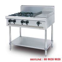 Stainless steel combination open burner griddle OB4GG1BFS